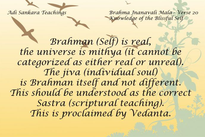 Jeeva is Brahma with ignorance and Brahma is the non-dual absolute existence. Advaita Philosophy.