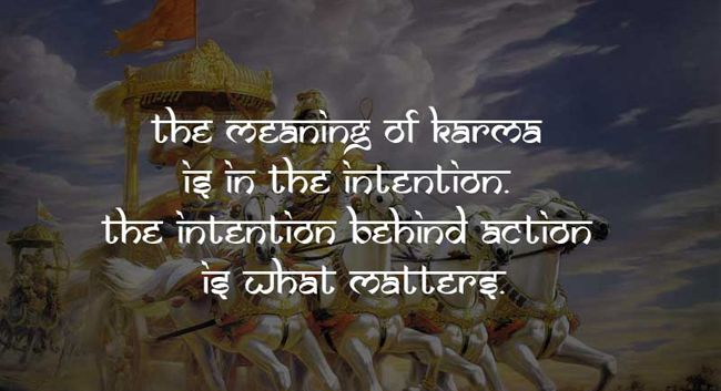 The meaning of karma is in the intension ,the intension behind action or karma is what matters.