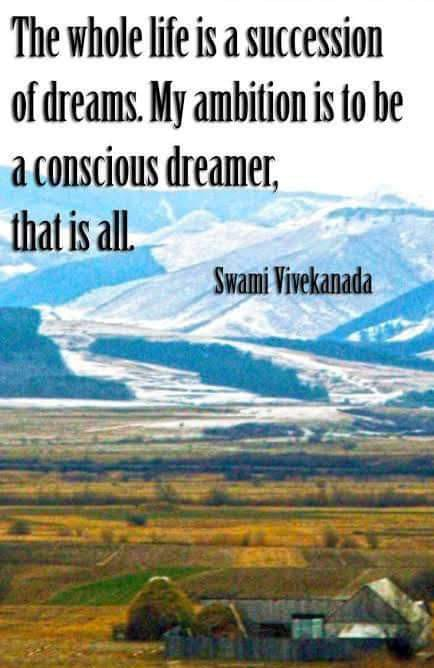 Material World is the dream state of Brahma(The Limitless) or Pure consciousness. Enlightenment is being awake in dream(Material world)