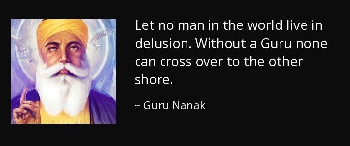 GURU is the way, the Goal, the Truth, none can come to the God(Completeness) but by GURU.